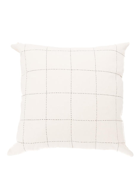 Grid Pillow - White