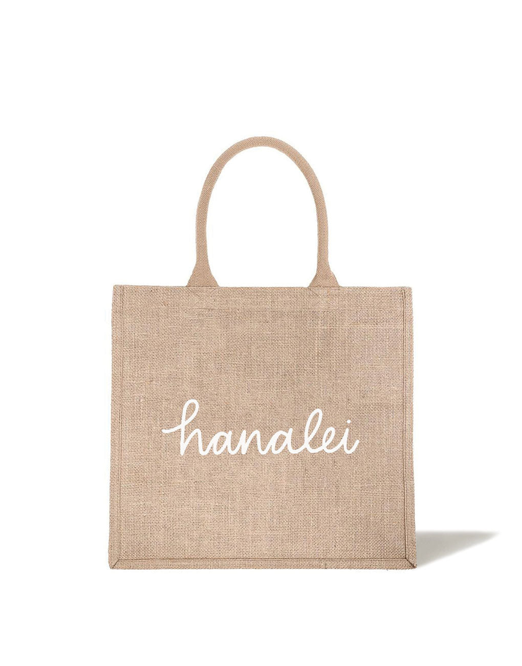 Large Hanalei Reusable Shopping Tote In White Font | The Little Market