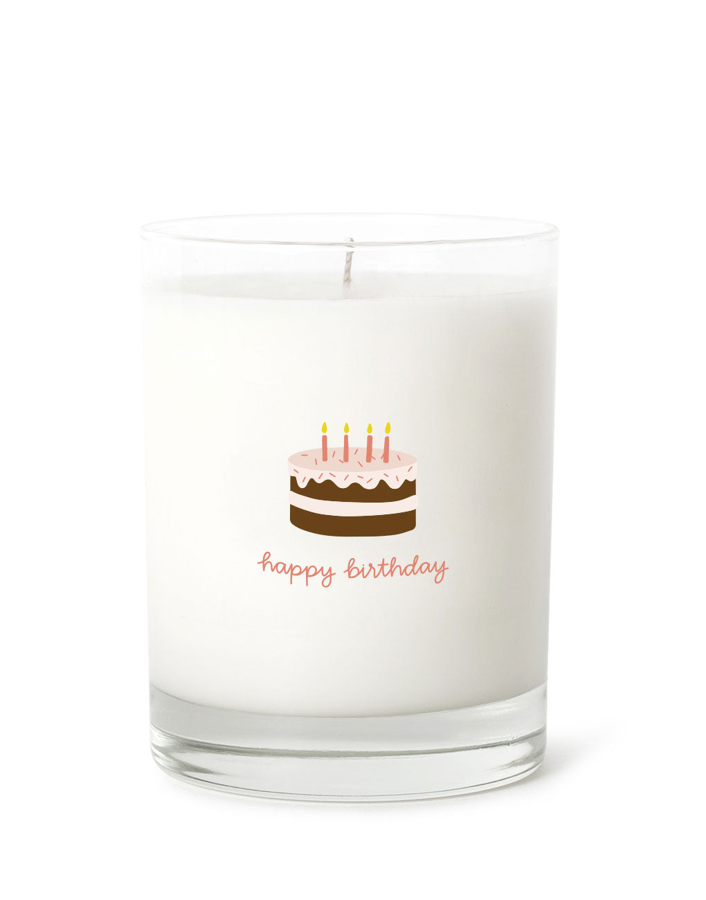 Candle - Happy Birthday (Chocolate Cake)