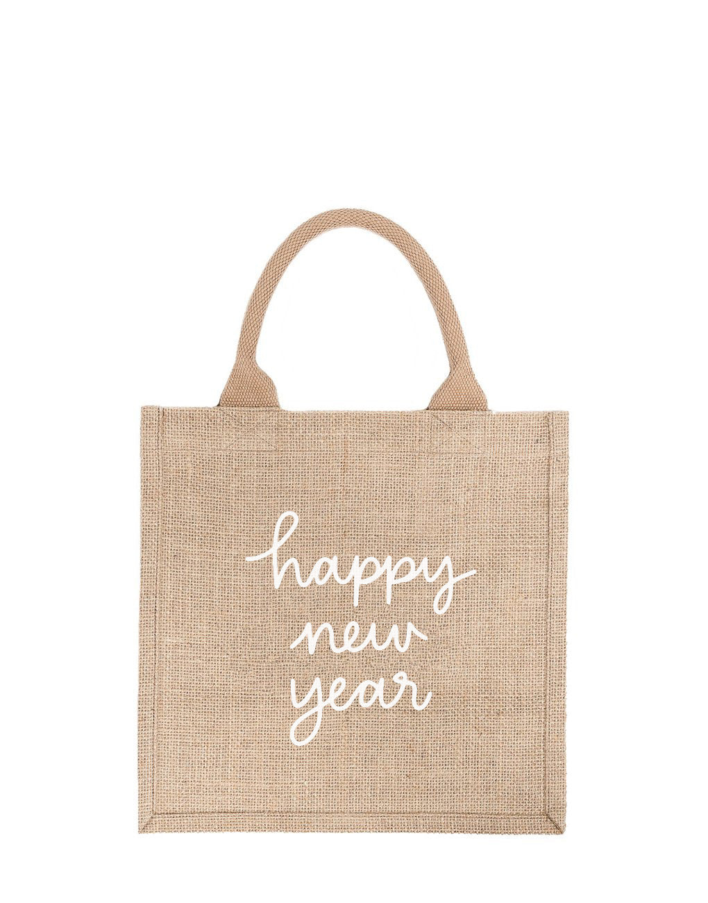 Large Happy New Year Reusable Gift Tote In White Font | The Little Market