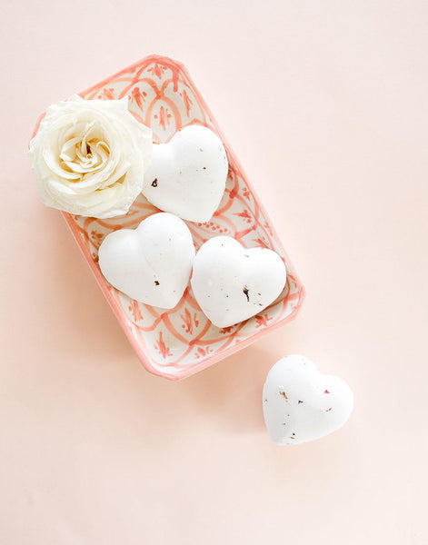 Heart Shaped, Rose Scented Bath Bomb | The Little Market