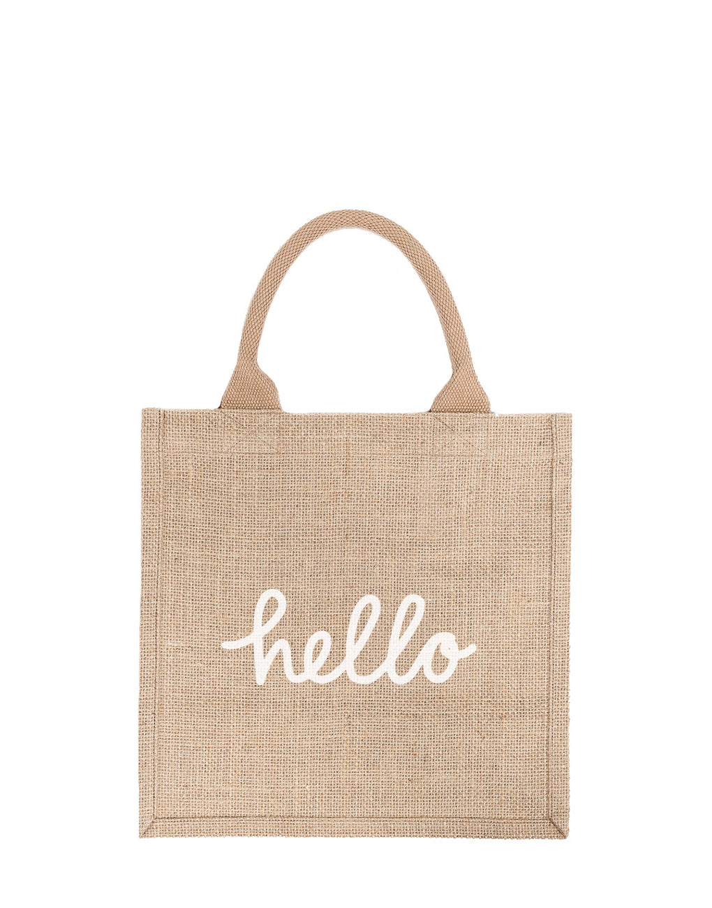 Large Hello Reusable Gift Tote In White Font | The Little Market