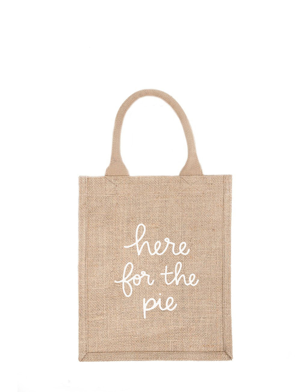 Medium Here For The Pie Reusable Gift Tote In White Font | The Little Market