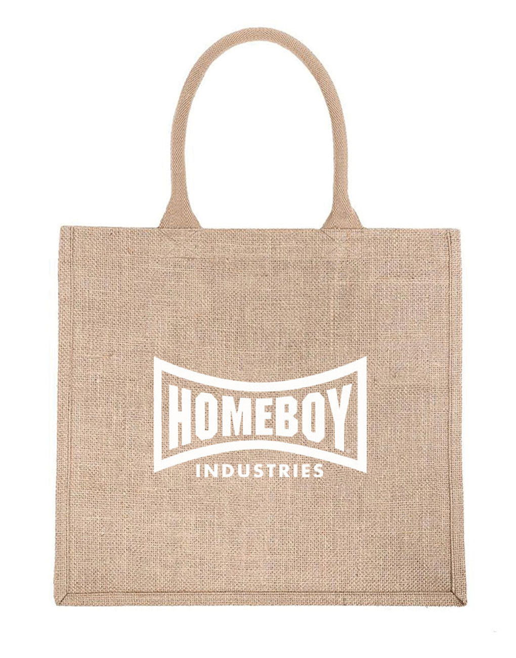 Homeboy Industries Reusable Shopping Tote in White Font | The Little Market