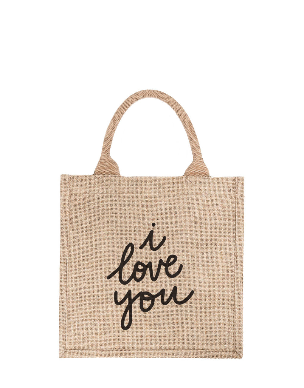 Large I Love You Reusable Gift Tote In Black Font | The Little Market