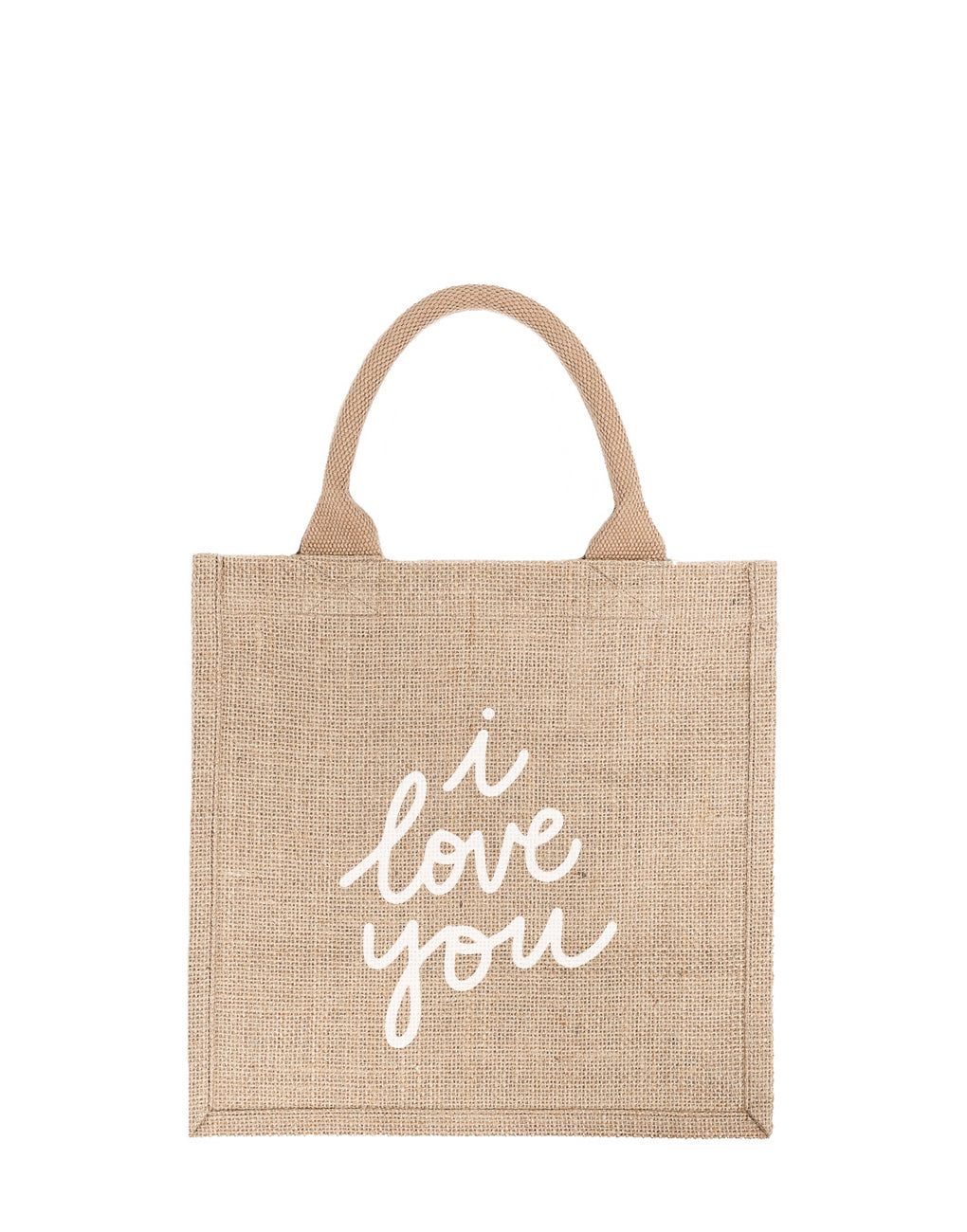 Large I Love You Reusable Gift Tote In White Font | The Little Market