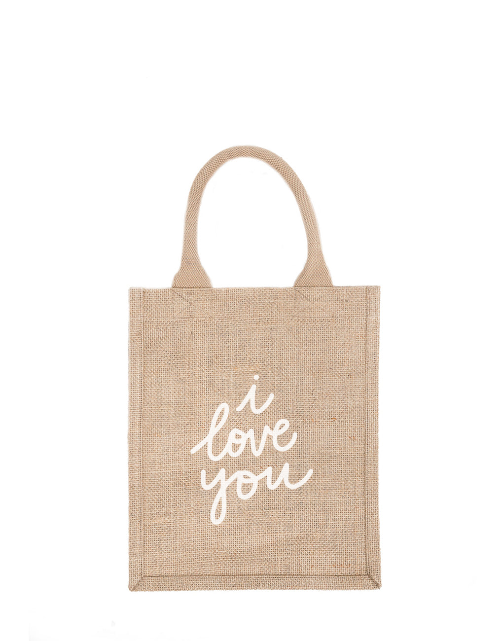 Medium I Love You Reusable Gift Tote In White Font | The Little Market