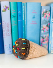 Ice Cream Cone Rattle - Chocolate | The Little Market