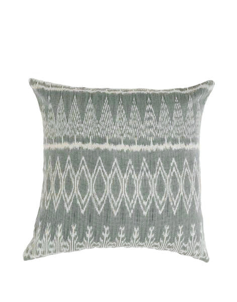Ikat Natural Dye Pillow Cover - Slate