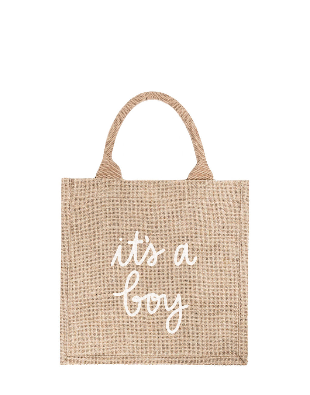 Large It's A Boy Reusable Gift Tote In White Font | The Little Market
