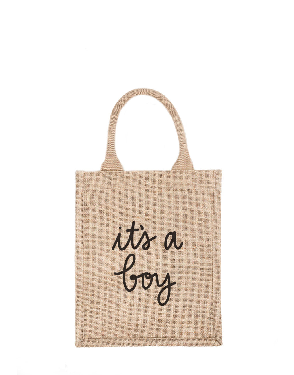 Medium It's A Boy Reusable Gift Tote In Black Font | The Little Market
