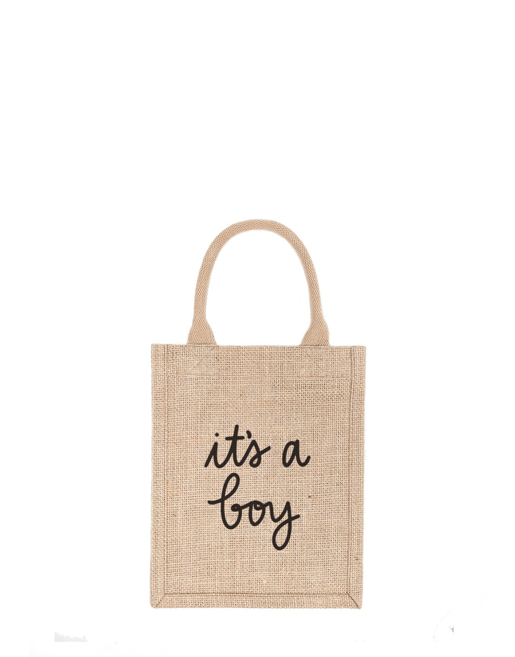 Small It's A Boy Reusable Gift Tote In Black Font | The Little Market