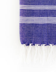Fair Trade, Artisan Made Lightweight Blue Hand Towel