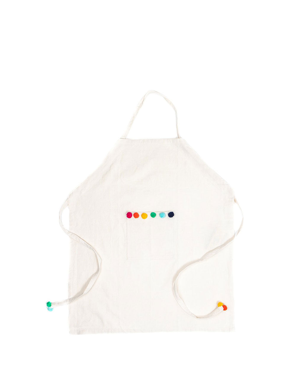 Rainbow Pom Poms Kids Apron | The Little Market