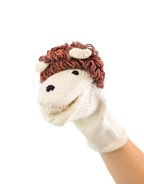 Knitted Hand Puppet - Lion