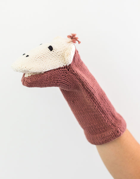 Knitted Hand Puppet - Monkey