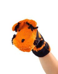 Knitted Hand Puppet - Tiger