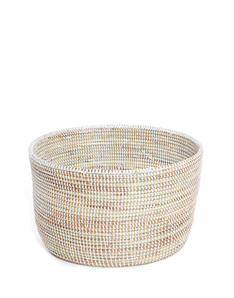 Knitting Basket - White