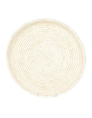 Fair Trade, Hand-woven Tray, Tan