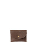 Leather Card Holder - Chocolate