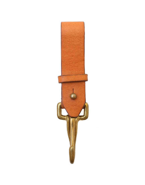 Leather Key Fob - Redwood