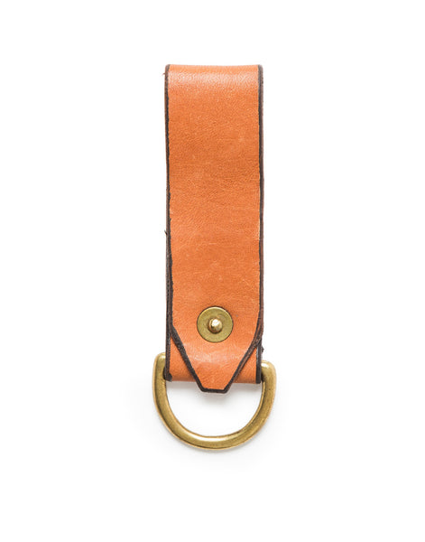 Leather Keyring - Redwood