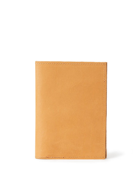 Leather Passport Holder - Tan