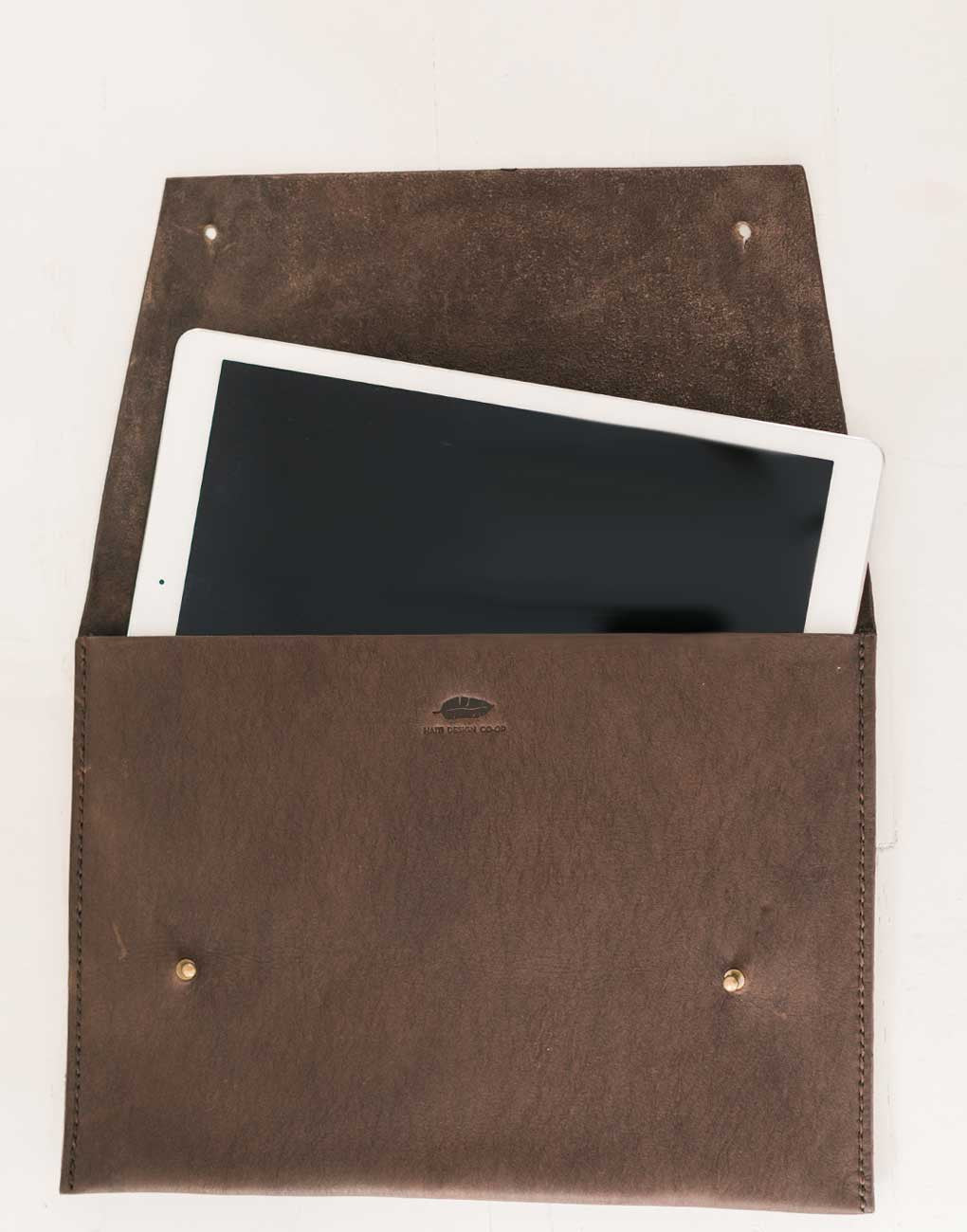 Fair Trade Leather Chocolate Portfolio