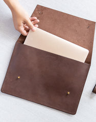 Leather Portfolio - Chocolate