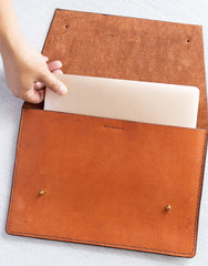 Leather Portfolio - Redwood