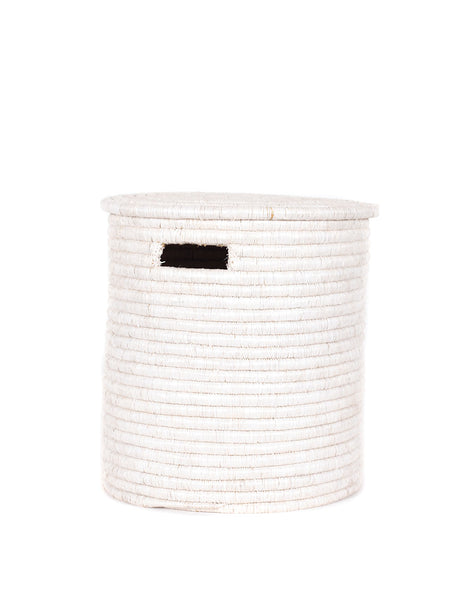 Medium Lidded Basket - White | The Little Market
