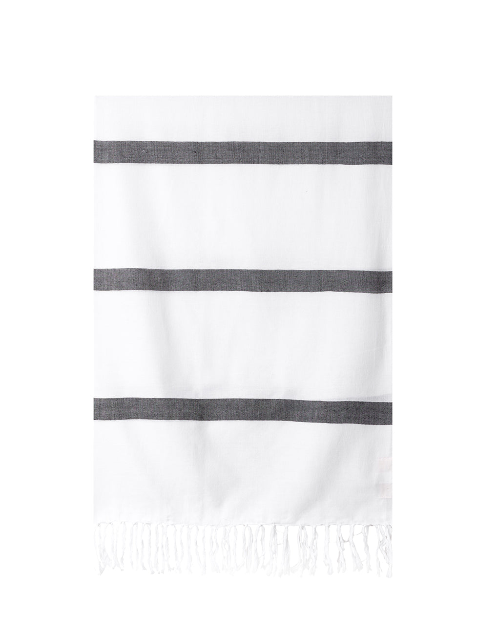 Lightweight Fringe Towel In Style No. 3 In Black | The Little Market