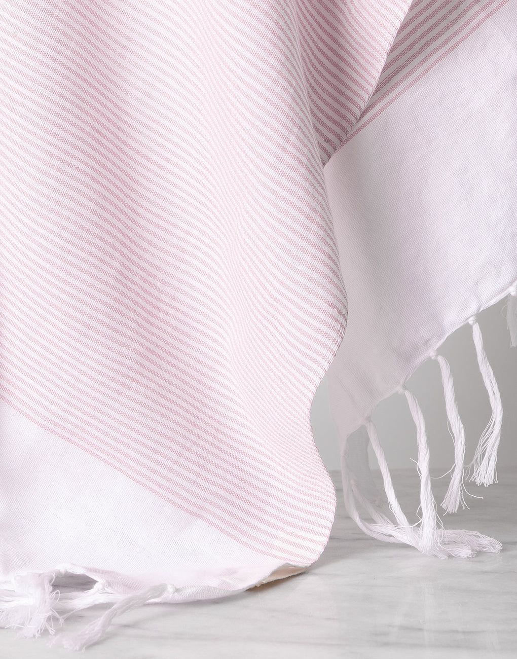 Lightweight Fringe Towel In Style No. 1 In Blush Close Up | The Little Market