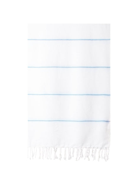 Lightweight Fringe Towel - Dusty Blue
