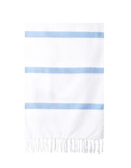 Lightweight Fringe Towel In Style No. 3 In Dusty Blue | The Little Market
