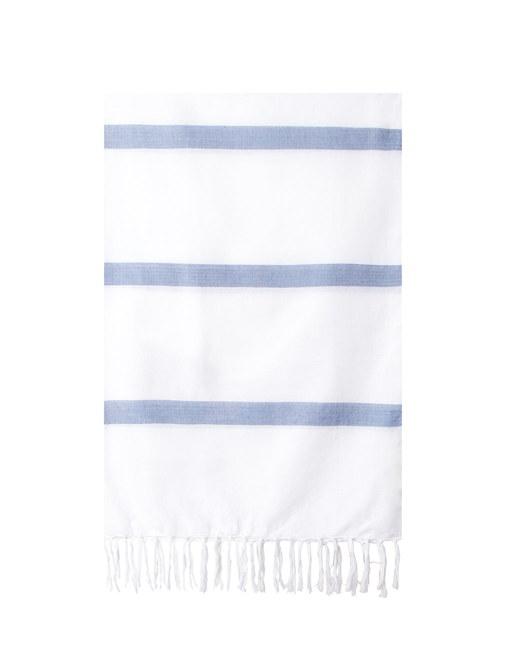 Lightweight Fringe Towel In Style No. 3 In Midnight Blue | The Little Market
