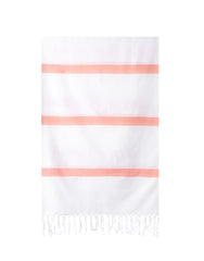Lightweight Fringe Towel In Style No. 3 In Orange | The Little Market