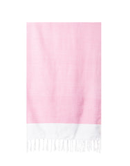 Lightweight Fringe Towel In Style No. 1 In Pink | The Little Market