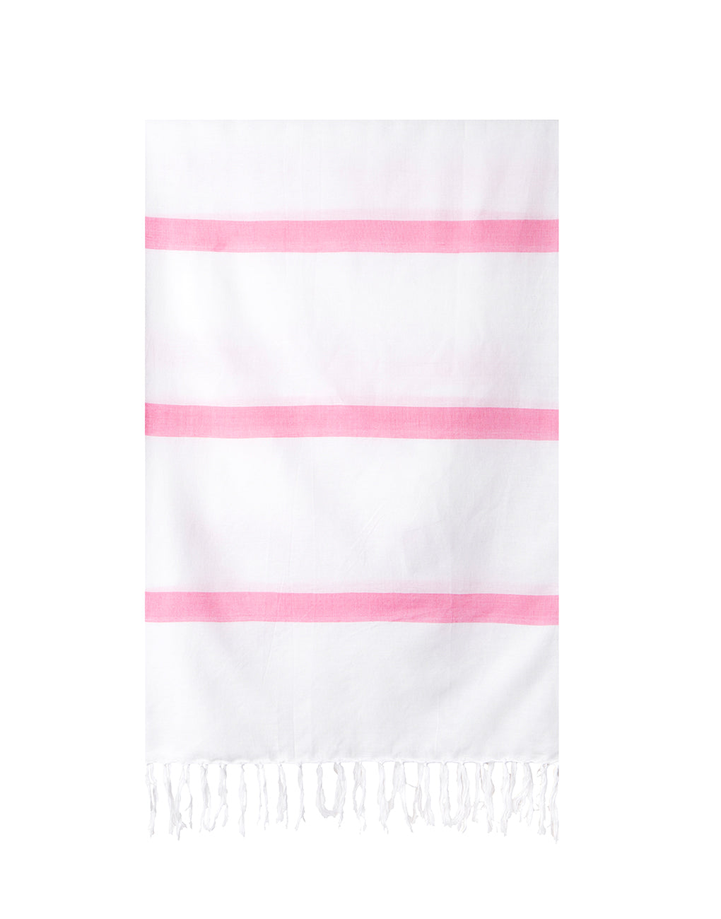 Lightweight Fringe Towel In Style No. 3 In Pink | The Little Market