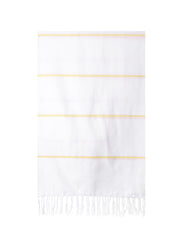 Lightweight Fringe Towel In Style No. 2 In Yellow | The Little Market