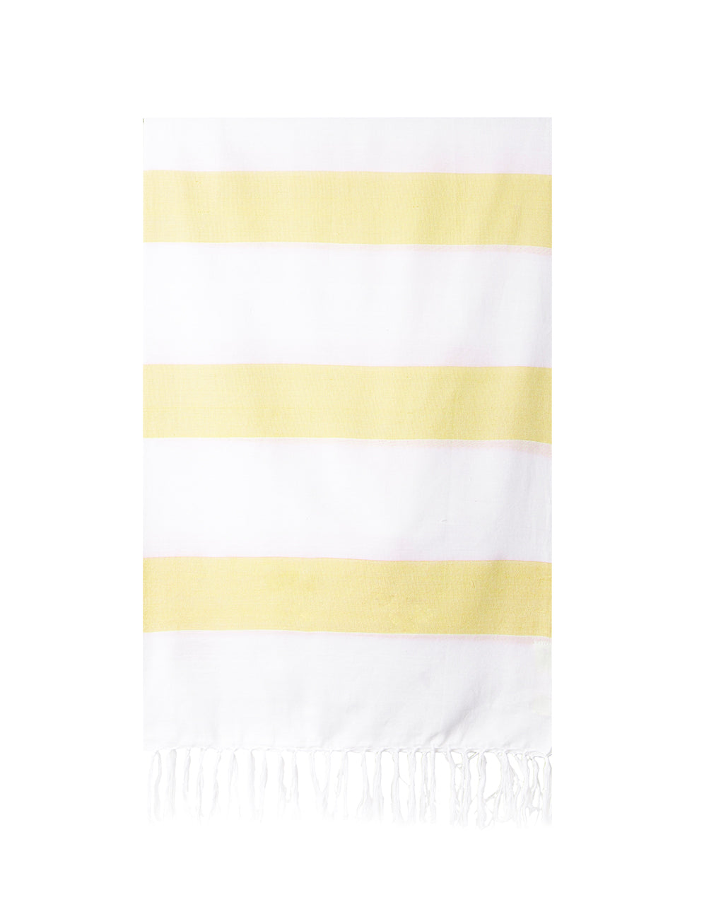 Lightweight Fringe Towel In Style No. 4 In Yellow | The Little Market