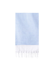 Fringe Hand Towel In Dusty Blue | The Little Market