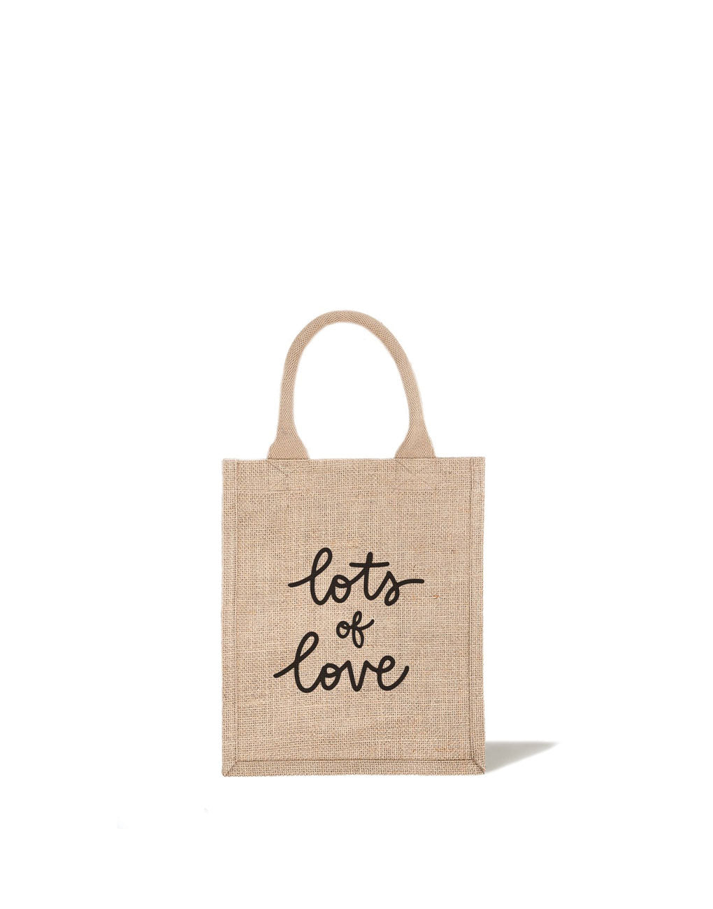 Medium Lots Of Love Reusable Gift Tote In Black Font | The Little Market