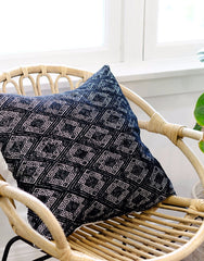 Fair Trade Woven Chiapas Pillow Black