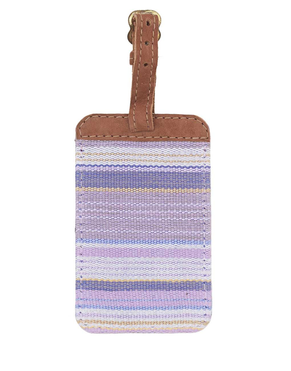 Fair Trade Purple Handmade Luggage Tag Travel Gift