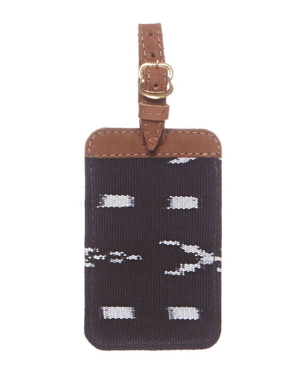 Fair Trade Black & White Handmade Luggage Tag Travel Gift