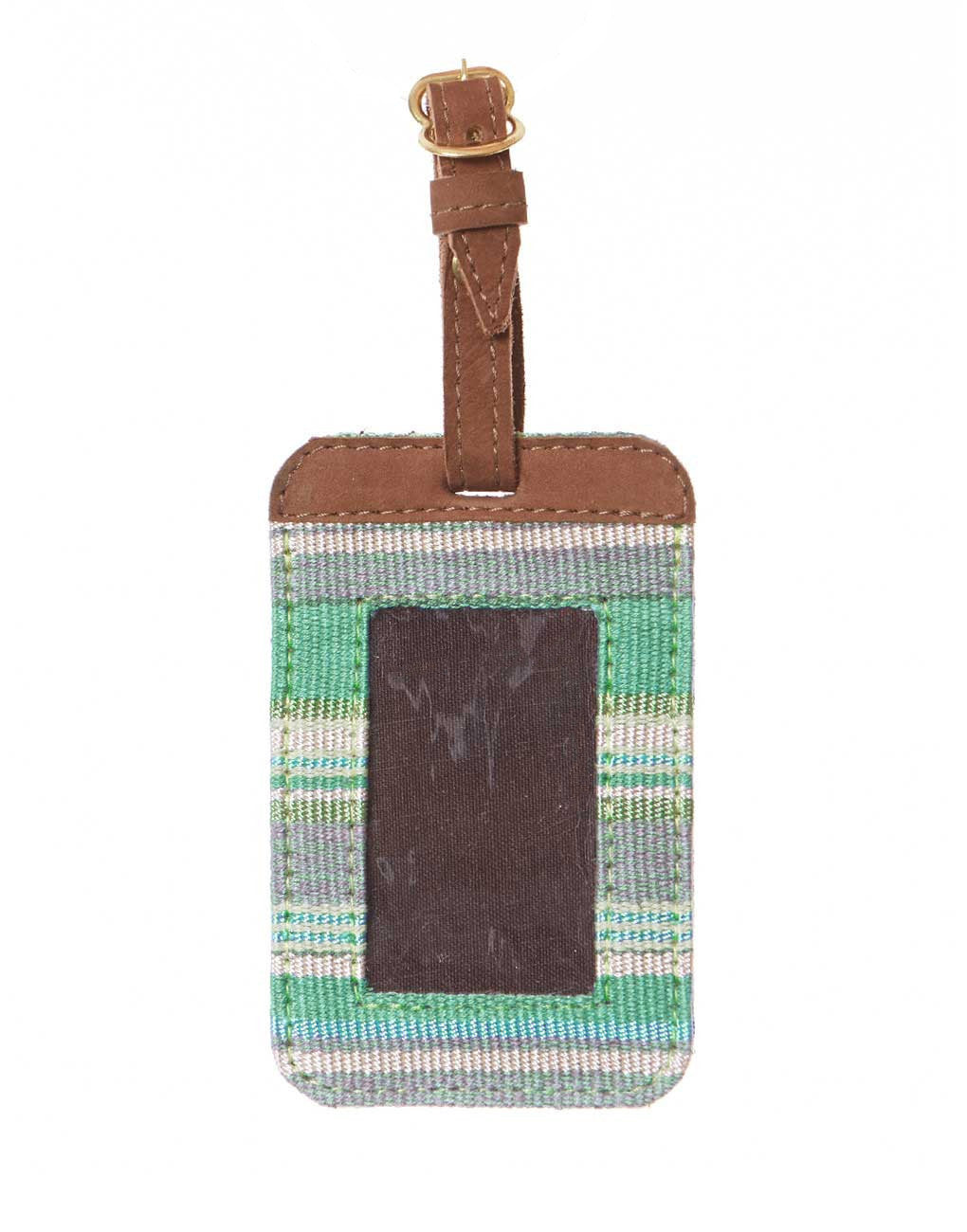 Fair Trade Blue & Green Handmade Luggage Tag Travel Gift
