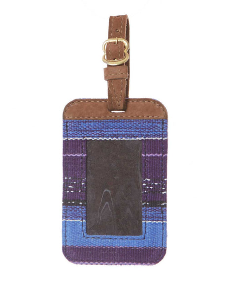 Fair Trade Blue & Purple Handmade Luggage Tag Travel Gift