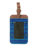 Fair Trade Blue Handmade Luggage Tag Travel Gift
