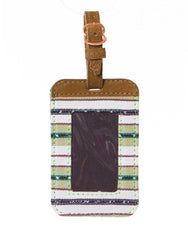 Fair Trade Green Handmade Luggage Tag Travel Gift